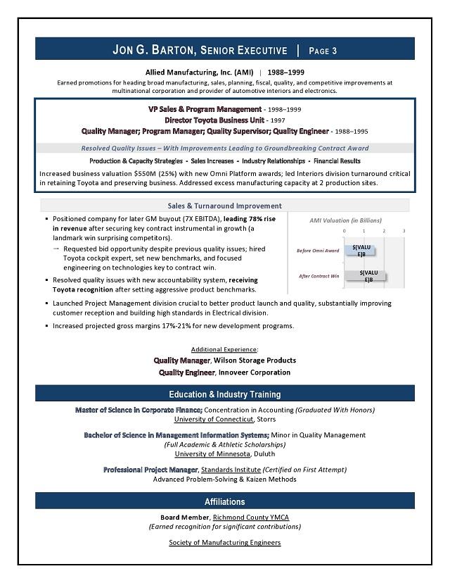 award winning ceo board advisor sample resume executive resume