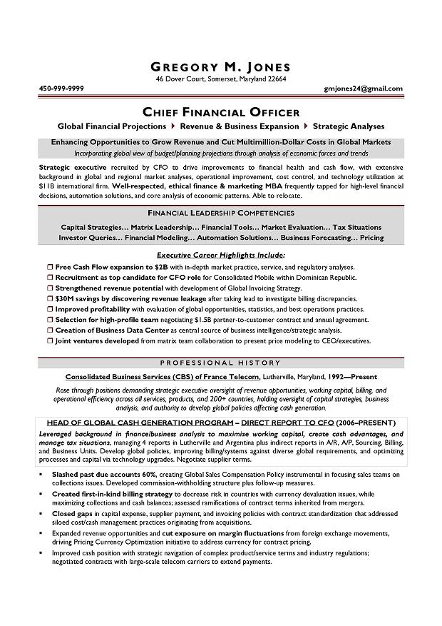 for your cfo resume writing needs - Resume Writer Houston