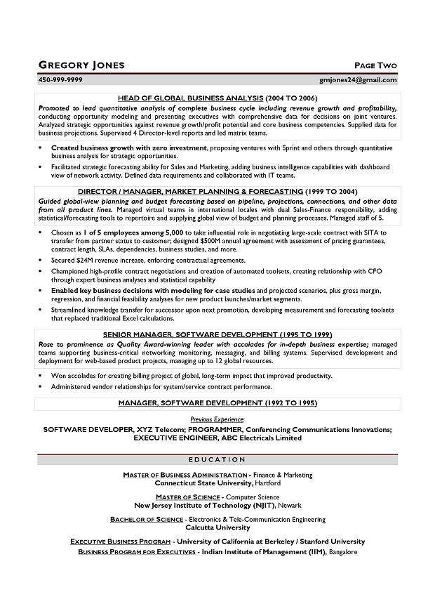 cfo sample resume executive resume writer chicago houston san
