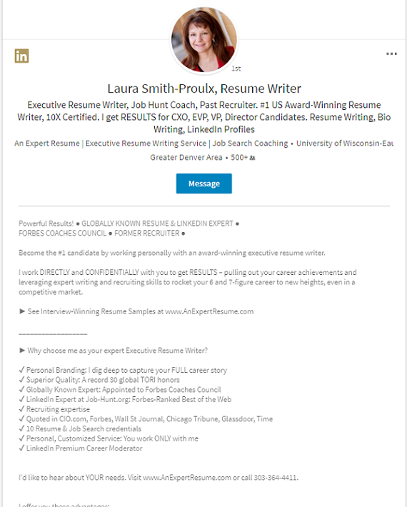 LinkedIn Profile Resume Add On All Profile Sections Written For You  Profile Writing