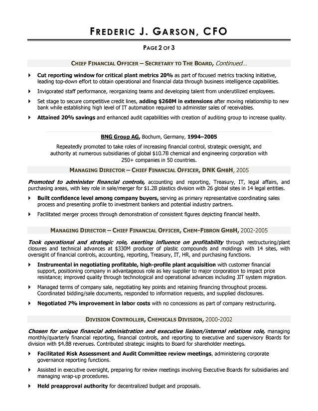 Resume Writer For Cfos Executive Resume Writer Atlanta Dubai