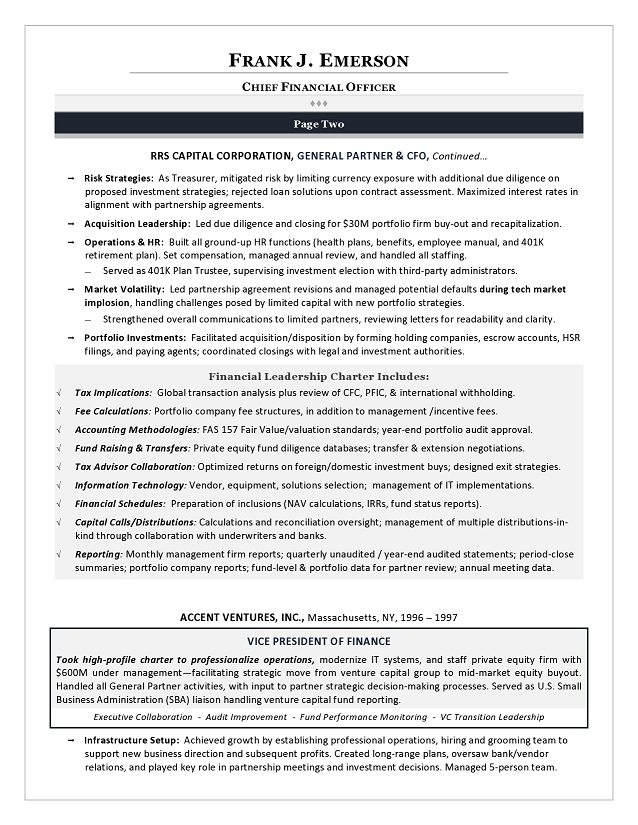 Cto Cio Resumes Resume Samples Examples Brightside Resumes. Resume