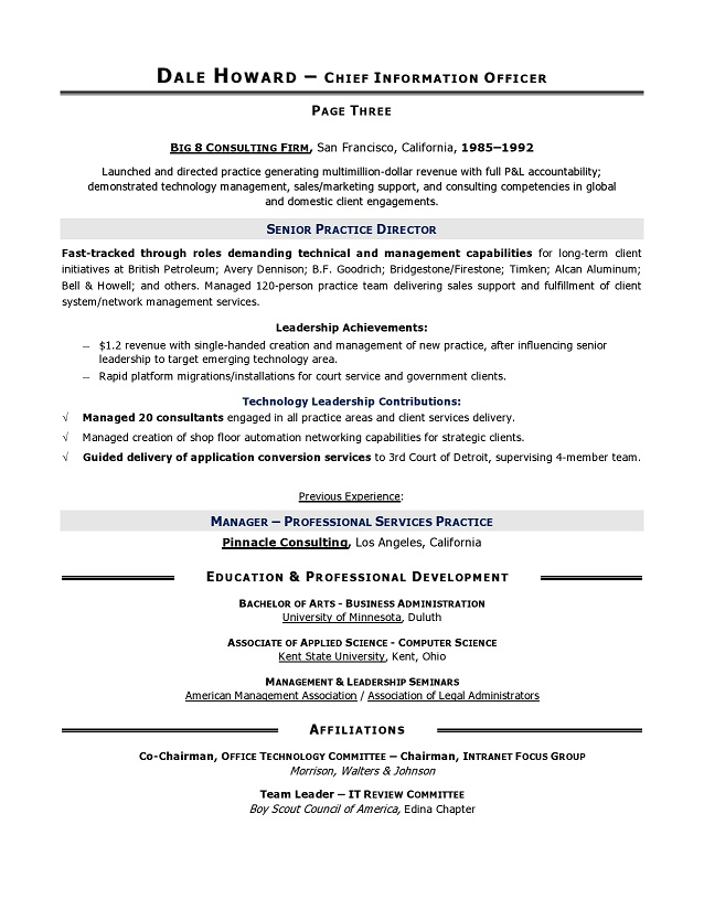 Cio sample resume chief information officer resume it resume cio sample resume by executive resume writer yelopaper