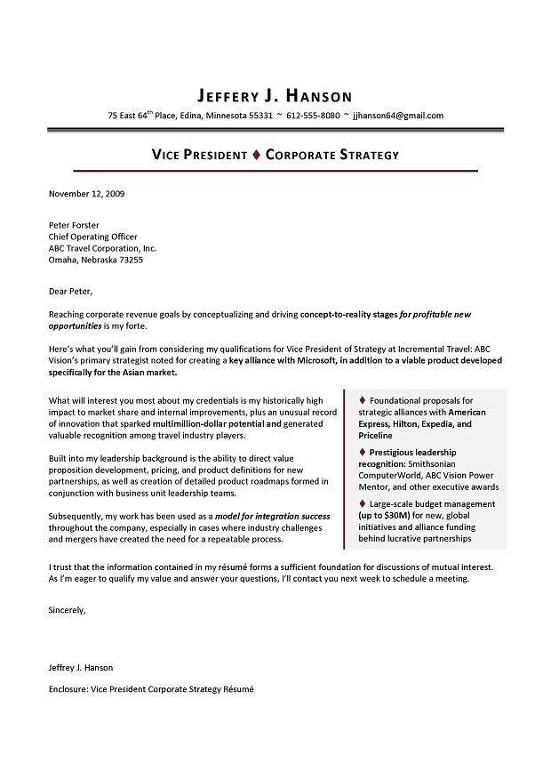 Sample Cover Letter   Cover Letter Writing For Executives  Resume Cover Letters Samples