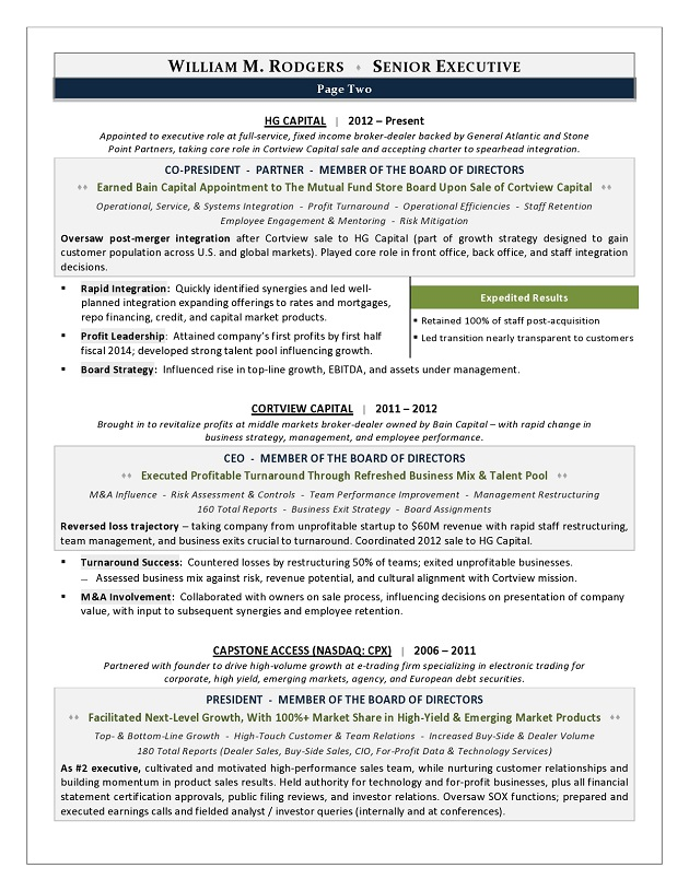 This CEO Resume Won Best Executive Resume In CDIu0027s Global TORI Competition