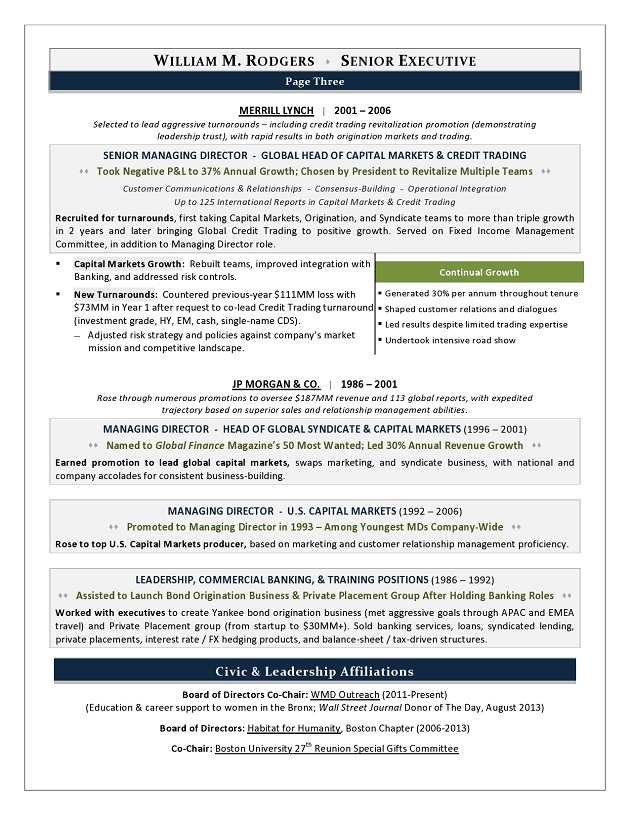 Lovely This CEO Resume Won Best Executive Resume In CDIu0027s Global TORI Competition
