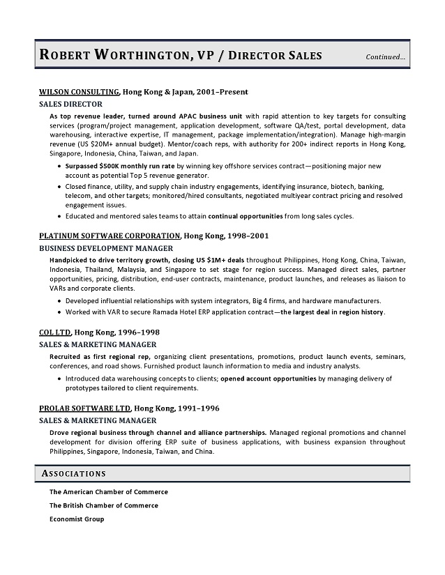 vice president sales sample resume vp sales resume